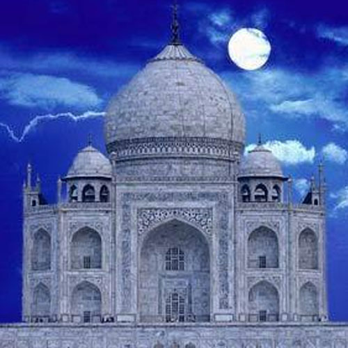 Taj Mahal Tour In Moonlight